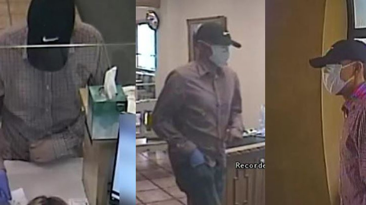Man in blue Nike baseball cap spotted at another Albuquerque bank robbery