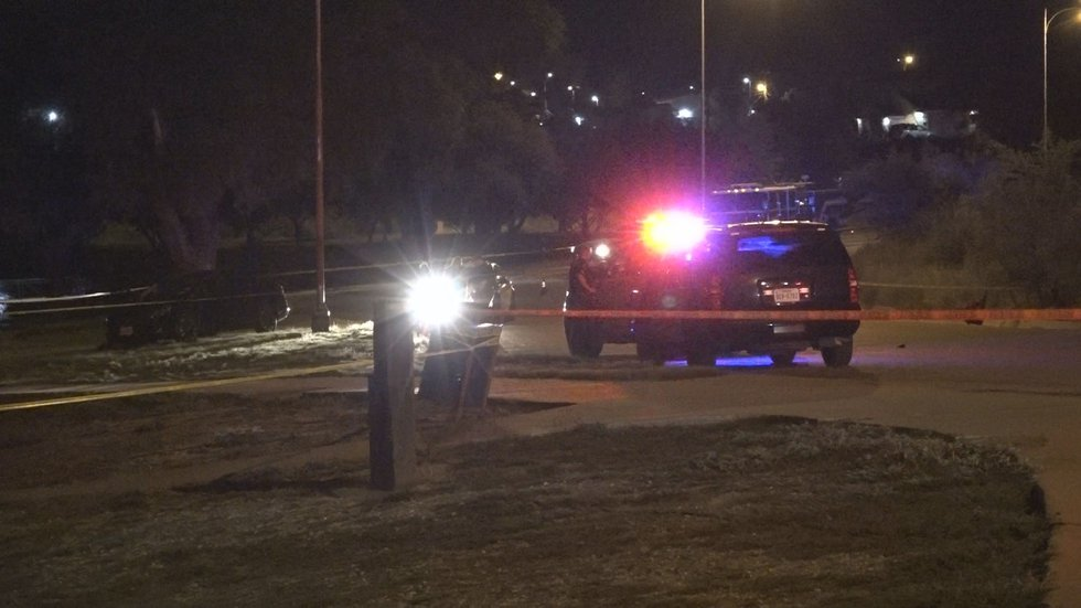 Two people have been killed in a Saturday night shooting at Buddy Holly Park, 1101 N. University.