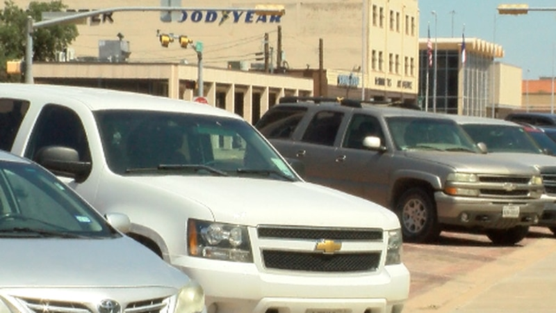 Cars in Downtown Lubbock.