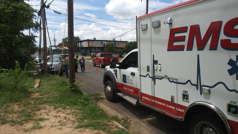 1 person is seriously injured after a car crashed into a utility pole in Central Lubbock...