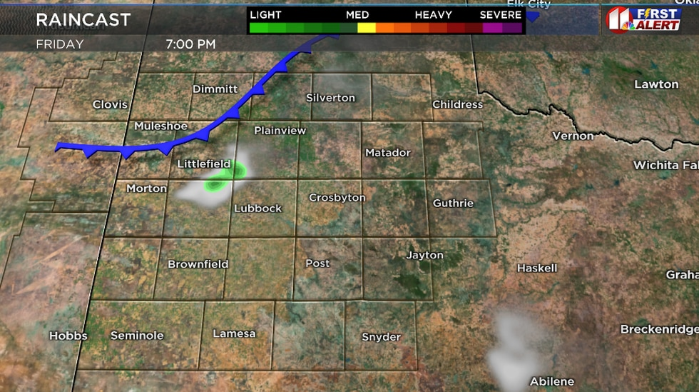 Isolated shower or two possible