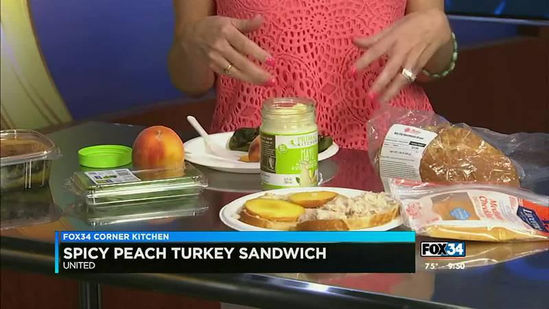 Spicy Peach Turkey Sandwich