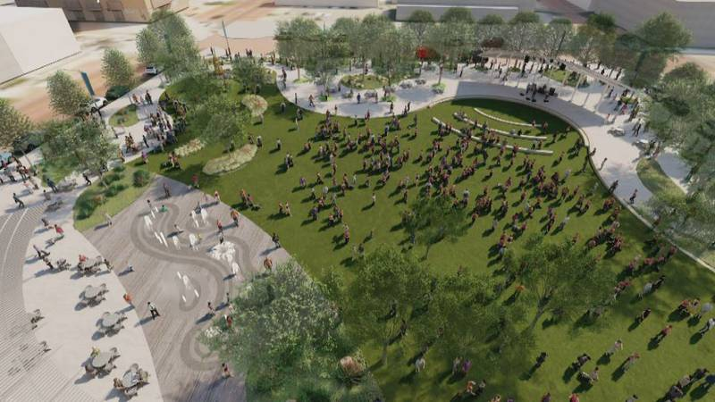 The proposed design of the Civic Park project in downtown Lubbock