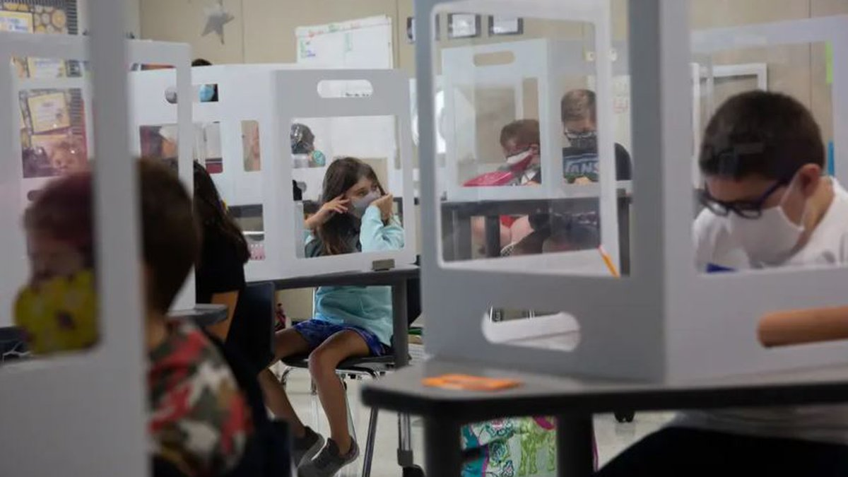 The Texas Supreme Court's order Thursday temporarily allows school districts to require face...