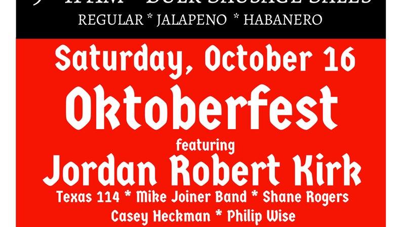 St Joseph Catholic Church in Slaton is hosting its annual Sausage Festival and Oktoberfest.