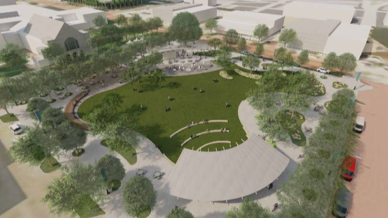 The proposed design of Lubbock's Civic Park