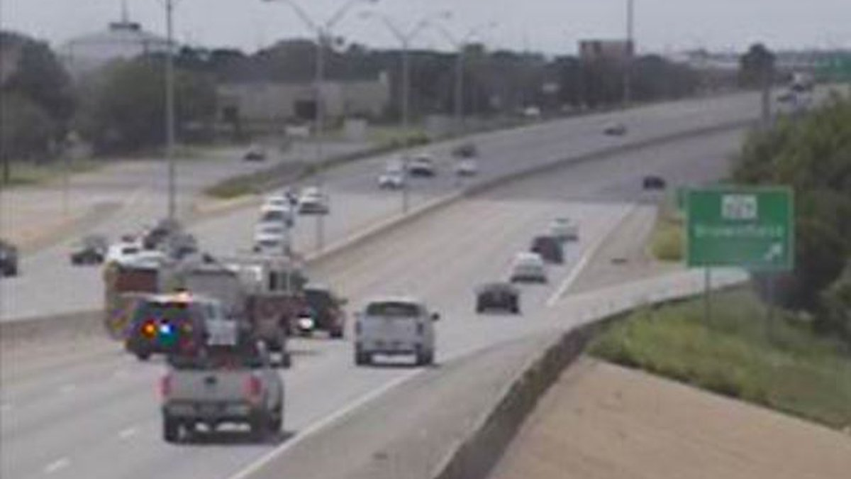 Minor injuries were reported, but two inside left lanes of westbound South Loop 289 were closed.