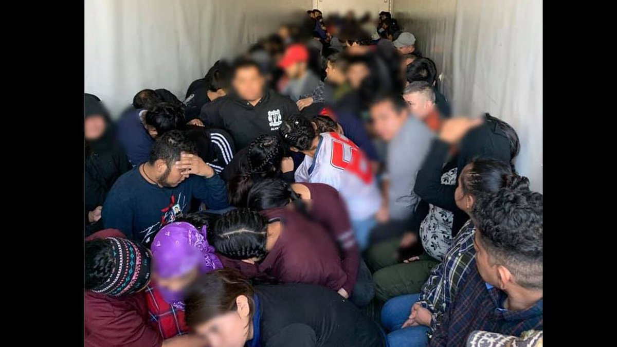 105 migrants detained near Texas border.