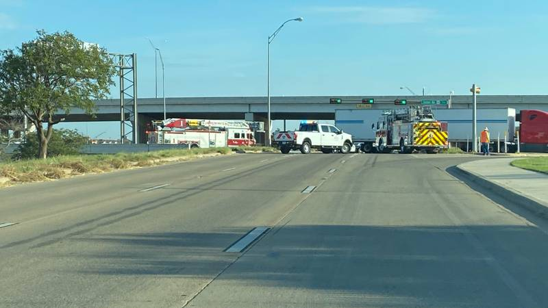 Traffic is delayed after a crash near US 84 and I-27 Wednesday morning.