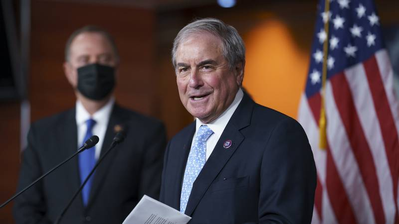 FILE - In this Sept. 21, 2021, file photo House Budget Committee Chair John Yarmuth, D-Ky.,...