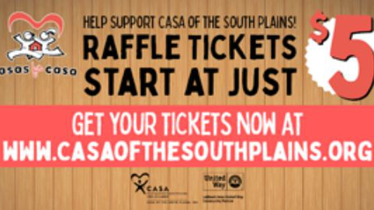 Help support CASA of the South Plains for its annual Casas for Casa Raffle Fundraiser.