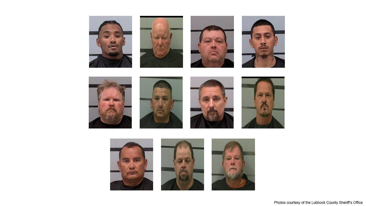 Lubbock police make 11 arrests in prostitution operation
