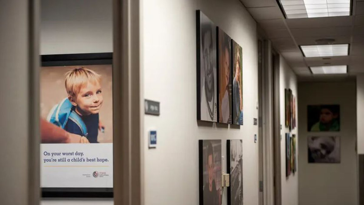 Portraits were on display at the Child Protective Services office at the Texas Department of...