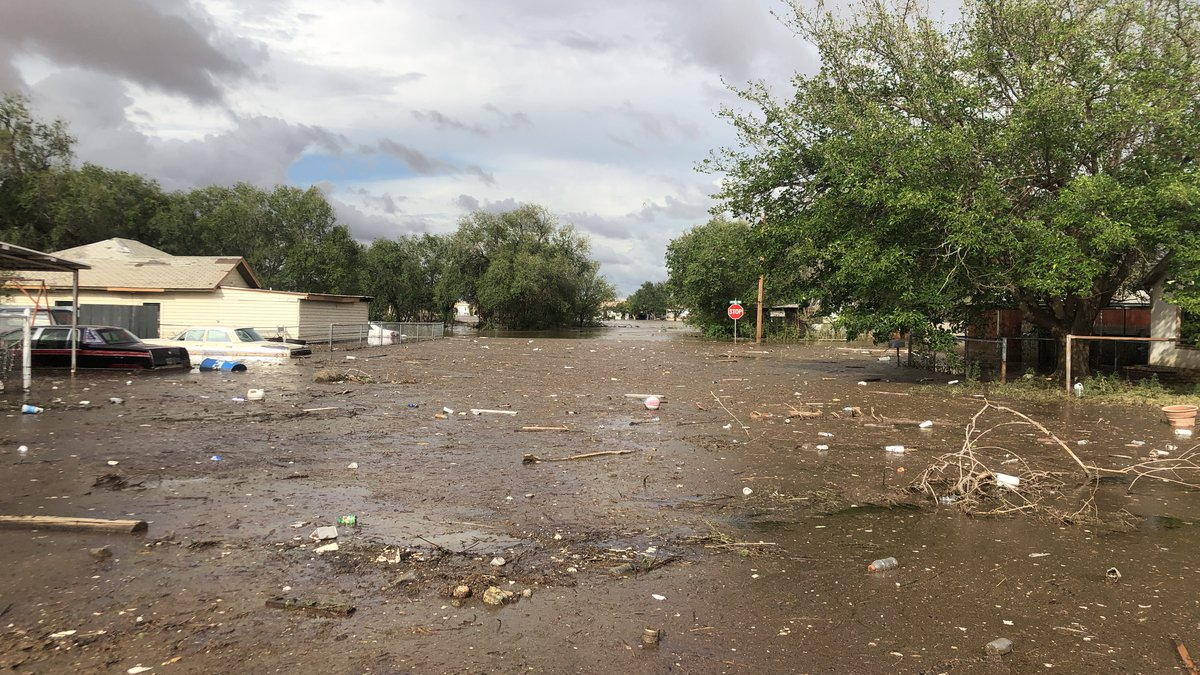 The neighborhood next to the Boys & Girls Club lake, North 8th and North Houston, still under...